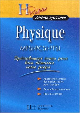Physique MPSI-PCSI-PTSI