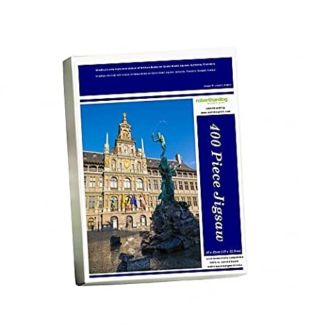 Photo Jigsaw Puzzle of Stadhuis (city hall) and statue of Silvius Brabo on Grote Markt square