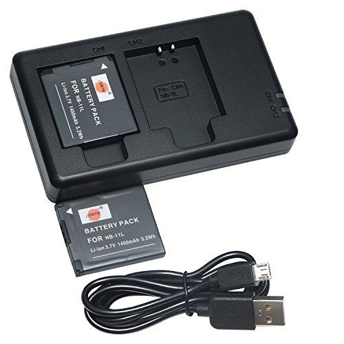 DSTE 2PCS NB-11L NB-11LH1400mAh/3.7V Batería Cargador