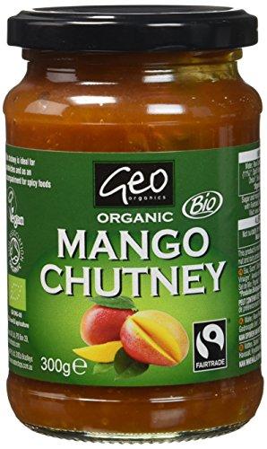 Geo Organics Chutney Bio à la Mangue Commerce Équitable 300g - Lot de 6