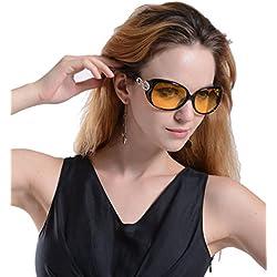 Agstum Damen Sonnenbrille Mehrfarbig Schwarz