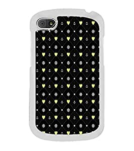 ifasho Modern Art Design Pattern with Lot Of small heart and anchor Back Case Cover for Samsung Galaxy E5