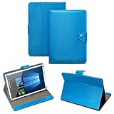 NAUC Universal Tablet Tasche mit Standfunktion Hülle für Blaupunkt Endeavour 101M 101G 101L Tablet Schutztasche in Edler Carbon-Optik Schutzhülle Cover Case, Farben:Blau