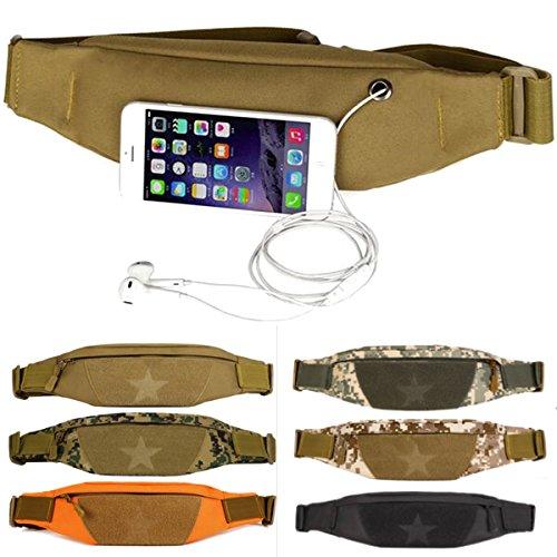 Tutoy Unisex Outdooors Handtasche Nylon Taille Running Telefon Tasche Anti Theft Sport Bund-Cp Camo (Löwen Camo)