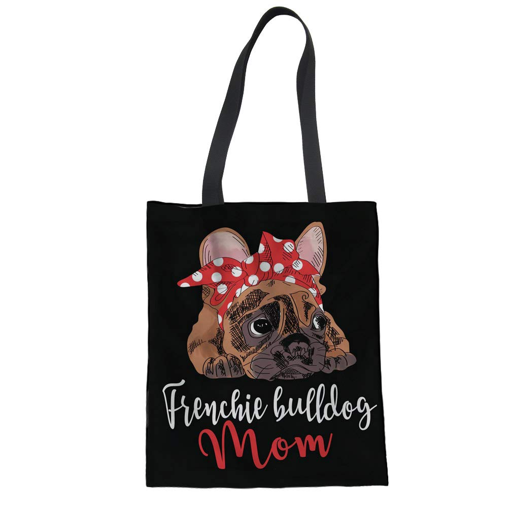 Nopersonality Canvas Tote Bag Cute Dachshund Dog & Heart Balloon Cotton Shopping Shoulder Bag for Women Lady