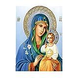 non-brand Sharplace Religion DIY 5D Diamant Painting Handarbeit Basteln Wohnzimmer Dekor Wand Aufkleber Wanddekoration - Madonna und Sohn