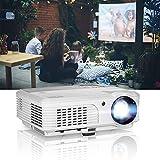 Proyector de Video WIKISH 4200 lúmenes Multimedia Cine en casa Juegos Proyectores para Exteriores Compatibilidad con Full HD 1080P con HDMI USB VGA AV para Fiestas en teléfonos Inteligentes