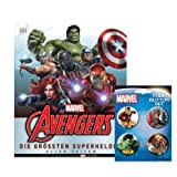 MARVEL Avengers Buch: Die größten Superhelden aller Zeiten + 1. Marvel Button