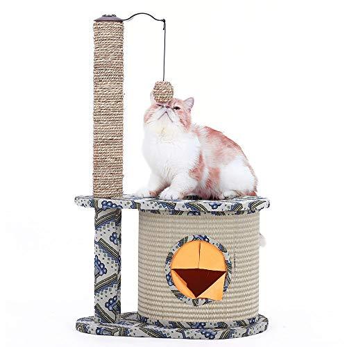 DS- Spielzeug für Haustiere Katze klettert Rahmen vier Jahreszeiten Universal Katzenspielzeug Katze Rest kleine Sisal Barrel Strohmatte Druck Katze springenden Tisch Katze Krallenstand &&