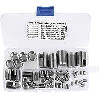 Inserciones roscadas, 50 piezas de acero inoxidable rosca interior inserciones de rosca autorroscantes conjunto de herramientas de reparación de refuerzo de roscas