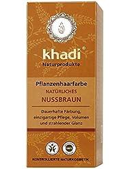 khadi Naturprodukte, Pflanzenhaarfarbe Natuerliches Nussbraun (1 x 100g)