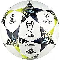 adidas Finale Kiev TT Ball, White/Black/Solar Yellow/Blue/Clear aqua/naranja, 5
