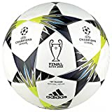 adidas Finale Kiev Trainingsball Fußball Ball, White/Black/SYELLO/Bl, 4