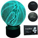 InnoWill Basketbälle Dekoration Geschenk Nachtlicht LED Lampe 7Colors