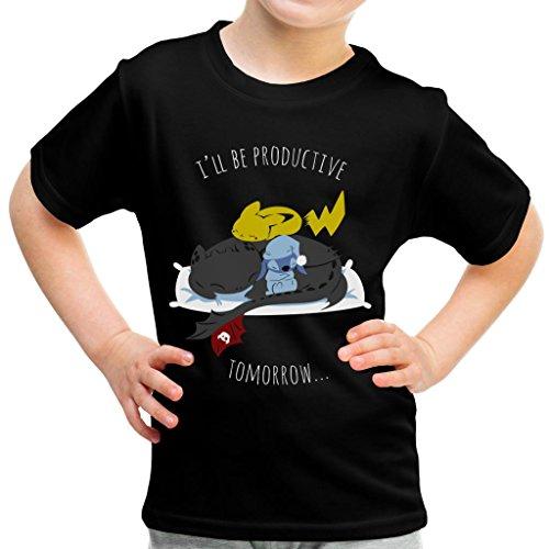 Pyjama Slumber Party Pikachu Toothless Stitch Kid's T-Shirt