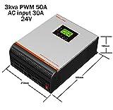 Onduleur multifonction onde pure 3 en 1 3000 VA/24 V/50 A/Chargeur 30 A...