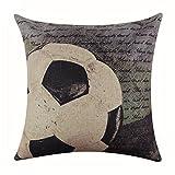 sukisuki suave ropa de cama de béisbol fútbol impreso lino habitación funda para cojín funda de almohada, Lino, 8#, talla única