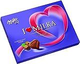 Milka I Love Milka Nuss-Nougat Pralinen - Pralinen aus Nuss-Nougat-Crème umhüllt von zarter Alpenmilch Schokolade - 10 x 110g