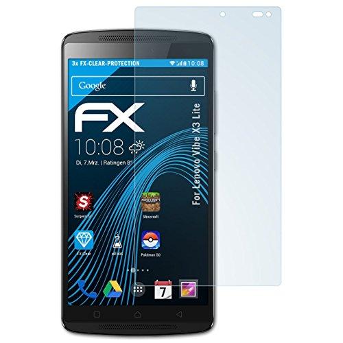 atFolix Schutzfolie kompatibel mit Lenovo Vibe X3 Lite / K4 Note Folie, ultraklare FX Bildschirmschutzfolie (3X)