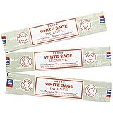 Satya Nag Champa White Sage Incense Sticks - 3 Packs