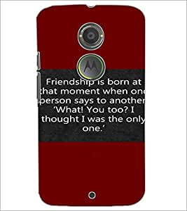 PrintDhaba Quote D-4417 Back Case Cover for MOTOROLA MOTO X2 (Multi-Coloured)