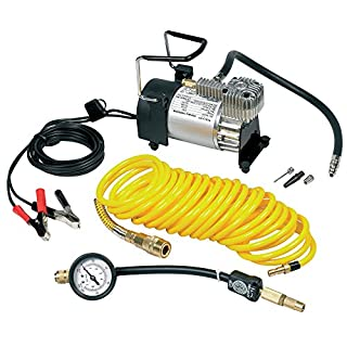 Ring RAC900 Heavy Duty Tyre Inflator, Air Compressor with 7m extendable airline, brass connector and storage bag