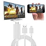 Snxiwth Lightning zu HDMI Adapter iPhone HDMI Kabel 2 Meter 1080P HDTV AV auf Konverter Umwandlung Gleichen Bildschirm Gerät für iPhone X/8/7/6Plus Serie,iPad Air/Mini/Pro,iPod Touch-Silber