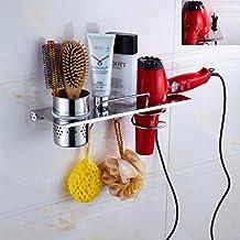 Porta Asciugacapelli Acciaio Inox Hair Styling Bagagli Petto Multifunzionale Bagno