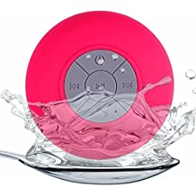 Generica - Altavoz Bluetooth con ventosa resistente al agua ideal Ducha Rosa