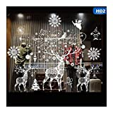 Best Animal World Mooses - QTZJYLW Christmas Window Sticker Wall Stickers Christmas Moose Review