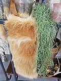 Florissima Fellband Pelz Fell 20x160cm Cognac Fuchs Tischläufer Tischdeko Country Home Weihnachten Herbst Wohndeko Wohntextilien