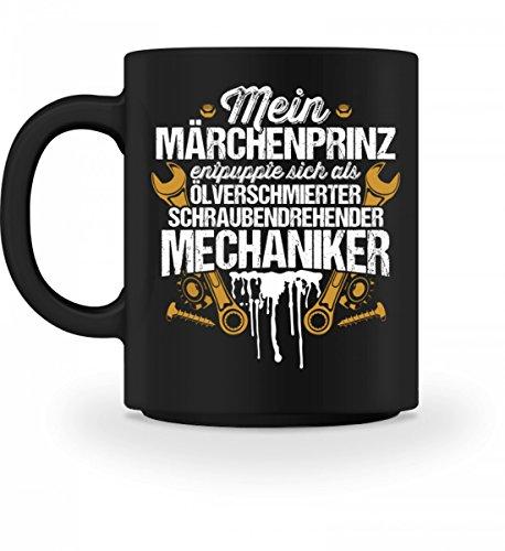shirt-o-magic Mechaniker = Märchenprinz - Geschenk Ehe-Frau Freundin KFZ-Mechatroniker Schrauber - Tasse
