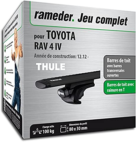 Pack Rameder barres de toit WingBar pour TOYOTA RAV 4 IV (118344-10996-41-FR)