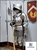 Nautisches Mart LARP Armour Knight Anzug Armor mit Superior Wasserkocher Hat Helm, body Armour