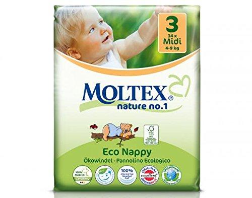 ebaa7f05d6cf 34 unidades MOLTEX Nature No1 pañales ecológicos bio oso pañales be