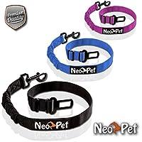NeoPet Hundegurt Fürs Auto, 2 Größen für Große und Kleine Hunde, Hunde-Sicherheitsgurt, Hunde-Anschnall-Gurt, Hund-Auto-Gurt Zum anschnallen für die Rückbank, Größe S-M, Schwarz