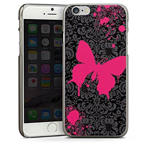 Apple iPhone 5 Housse Étui Silicone Coque Protection Papillon Papillon Rose vif CasDur anthracite clair
