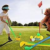 CUSHY 1 Set multicolore Giocattoli di plastica di golf per i bambini all'aperto del cortile del gioco di sport nuova vendita calda
