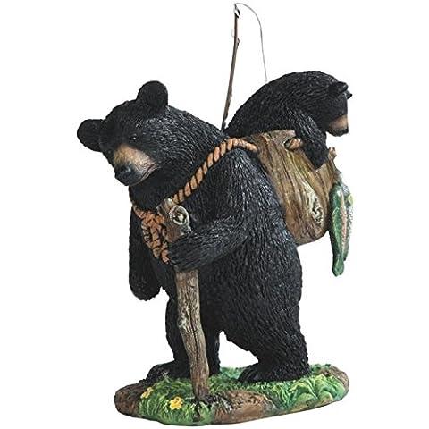 stealstreet ss-g-54290Orso nero pesca con cucciolo, Figurine