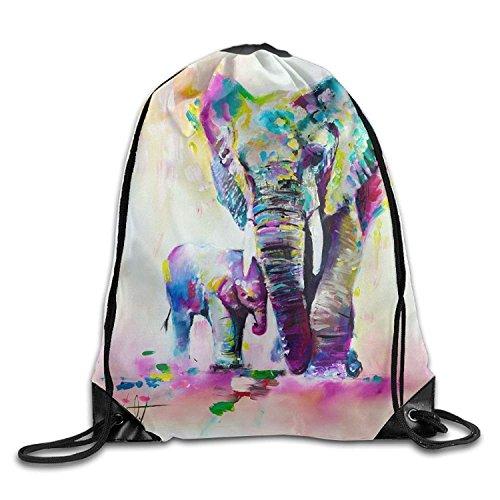 PGTry Elephant Paintings3d - Mochila con cordón para el Hombro (tamaño pequeño),...