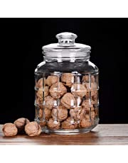 SHIV KRAFT Transparent Sealed with Airtight Glass Lid Storage Jar for Candies, Cereals, Toffees, Cookies,Snacks (2.2 LTR) (1)