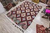 Anatolian vintage motif Kilim Rug 6.26x9.84 ft (191x300 cm)