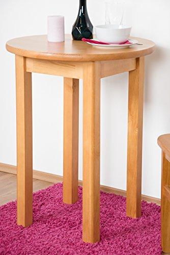 Tisch Kiefer massiv Vollholz Erlefarben Junco 234A (rund) - Ø 60 cm