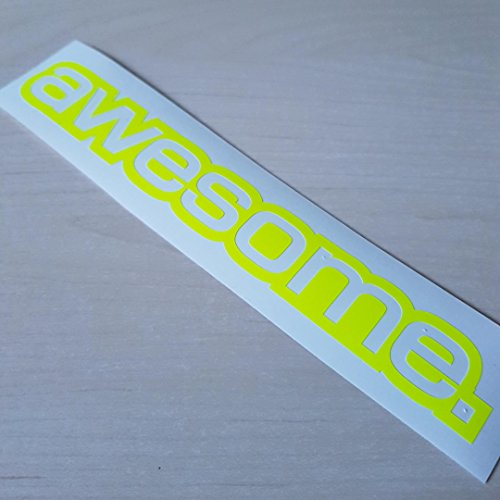 Awesome Aufkleber (awesome Neon gelb Shocker Hand Auto Aufkleber JDM Tuning Autoaufkleber OEM DUB Decal Stickerbomb Bombing fun Roller Scooter Motorrad 32)