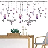 Perlen Vorhang Fenster Wandaufkleber Tv Sofa Hintergrund Wanddekor Pvc Muurstickers Wohnkultur