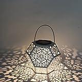 LEDMOMO Retro Solar Laterne Diomand Geformt Hängende Landschaft Licht Wasserdichte LED Garten Beleuchtung für Hausgarten Dekoration
