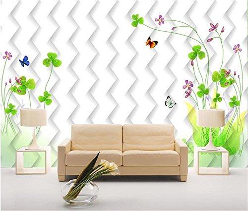 Personalizado Papel Tapiz Fotográfico 3D Sala De Estar Mural Flor De Fantasía Mariposa Pintura Tv Papel Tapiz De Fondo Para Pared 3D 220Cm X 140Cm ()
