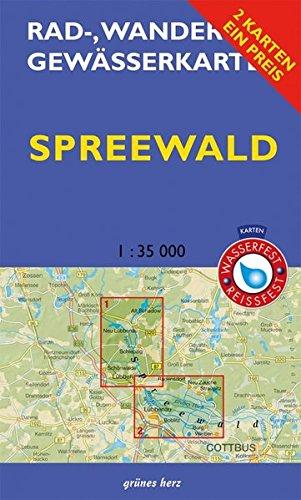 """Rad-, Wander- und Gewässerkarten-Set: Spreewald: Mit den Karten: \""""Oberspreewald\"""" und \""""Unterspreewald\"""". Maßstab 1:35.000. Wasser- und reißfeste Karten. ... und Gewässerkarten Berlin/Brandenburg)"""