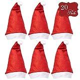 20 cappelli da Babbo Natale - Accessori divertenti perfetti per costumi di Natale e celebrazioni