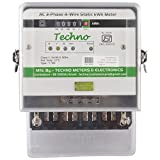 Techno Three Phase Static Energy Meter with Counter Display upto 60Amps